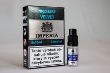 Nikotinová báza IMPERIA Velvet 5x10ml PG20 / VG80 12mg