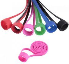 Univerzálna silikónová šnúrka Pink