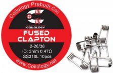 Coilology Fused Clapton predmotané špirálky SS316 0,47ohm 10ks