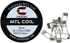 Coilology MTL predmotané špirálky SS316 0,9ohm 28GA 10ks