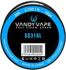 Vandy Vape SS316 odporový drôt 28GA 9m
