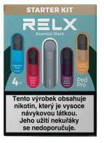 RELX Essential elektronická cigareta 350mAh Black Starter Kit